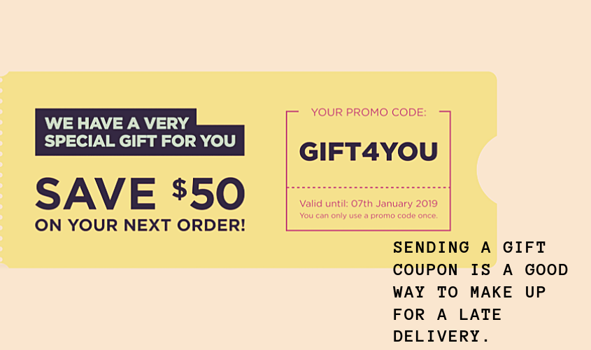 A gift coupon