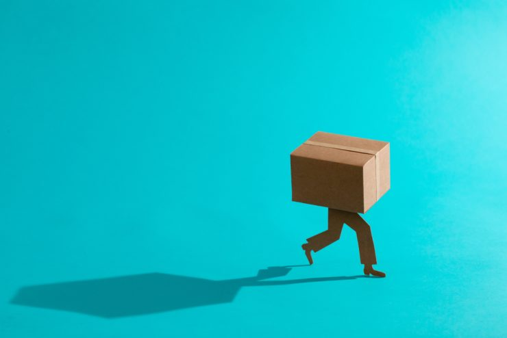 Representation of a package thief