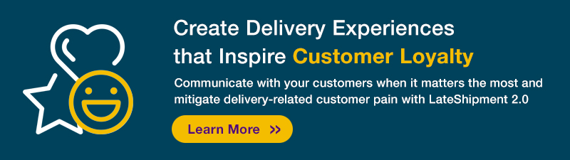 An ad for a feature of LateShipment.com Pulse 2.0 that helps boost customer loyalty