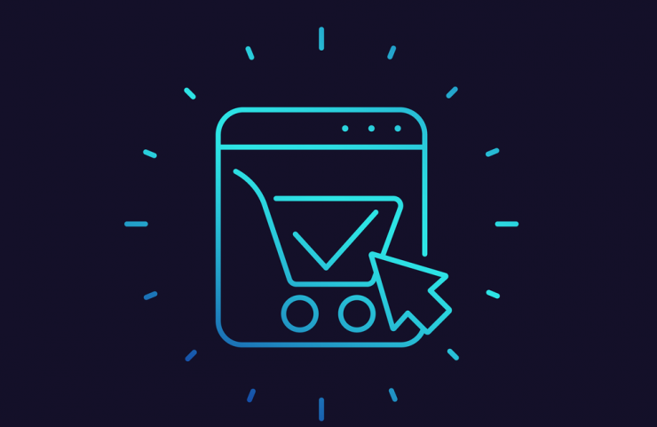 A successful eCommerce checkout graphically depicted