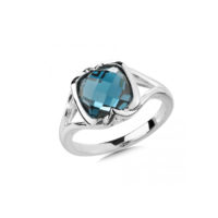 London Blue Topaz Ring in Sterling Silver