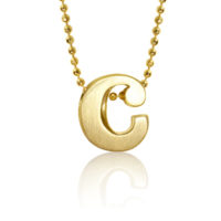 Alex Woo Little Letter C in 14k Yellow Gold 430-1916
