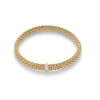 Fope 18K Yellow Gold Flex‰'it Vendome Bracelet with Diamond