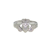 14k White Gold Claddagh Ring