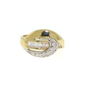 14k Yellow Gold CZ Ring