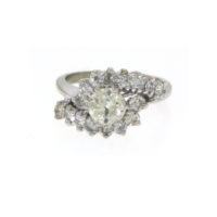 14k old cut diamond ring