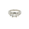 14k White Gold Three Princess Cut Diamond Ring