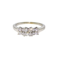 14k w Diamond Three Style Ring