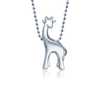 Alex Woo Little Animals Giraffe in Sterling Silver 600-2445