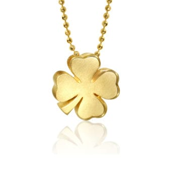 Alex Woo Little Luck Clover in 14K Yellow Gold