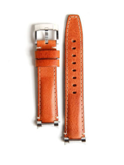 Everest Band Steel Link Leather