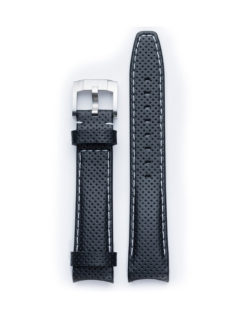 Everest Band Racing Leather Black with White