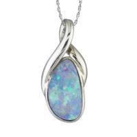 14KWG Australian Opal Doublet Pendant