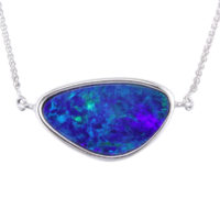 14KWG Opal Doublet Pendant