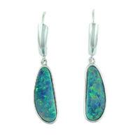 14KWG Australian Opal Doublet Earrings