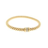 Fope Diamond Gold Bracelet side view