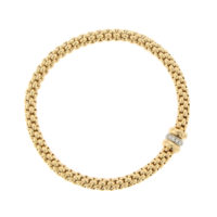 Fope Diamond Gold Bracelet top view