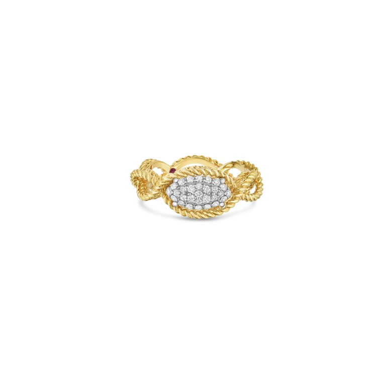 Roberto Coin New Barocco Diamond Ring