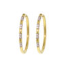18k Yellow Gold Diamond Hoop Earring