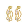18k Yellow Gold Diamond Barocco Earrings