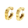 18k Yellow Gold Single SQ Earring