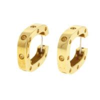 18k Yellow Gold Single SQ Earring