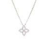 18k White Gold Princess Diamond Necklace