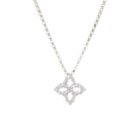 18k White Gold Princess Diamond Necklace