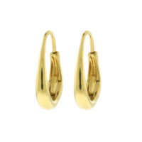 18k Yellow Gold Oval Classic Earrings