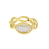 18k Two Tone Barocco Diamond Fancy By Pass Rope Link Ring