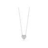 18k White Gold Diamond Puffed Heart Necklace