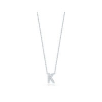 18k White Gold Letter K Diamond Necklace