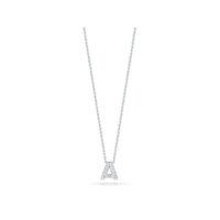 18k White Gold Letter A Diamond Necklace