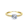 14k Yellow Gold Round Straight Diamond Engagement Ring