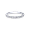 14k White Gold Diamond 0.30 Matching Wedding Band