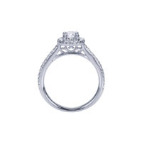 14k White Gold Engagement Rind, Dia 0.32ctw