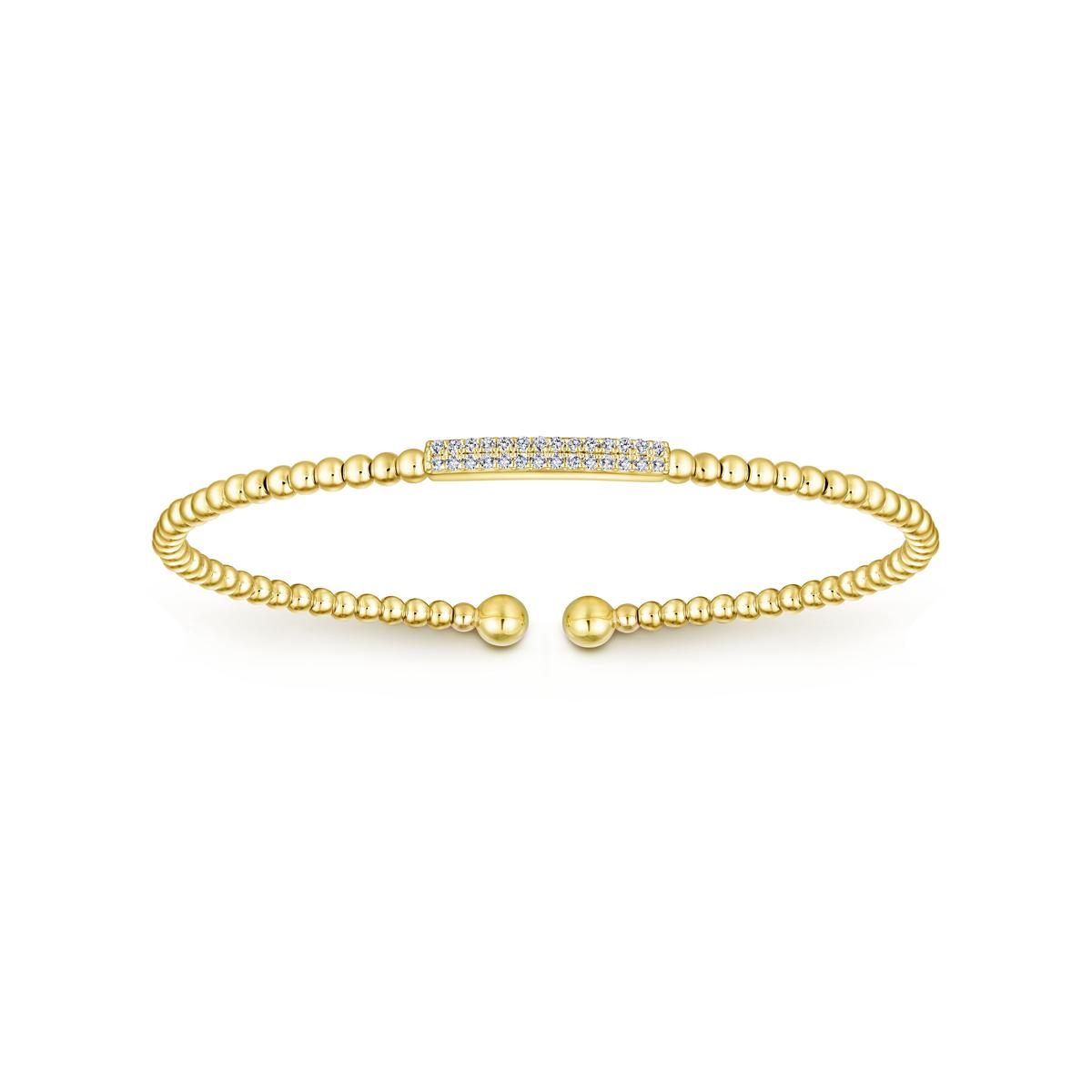 614f4bfca9f 14k Yellow Gold Diamond Bangle ~ Little Treasury