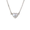 14k White Gold Heart Style Diamond Pendant