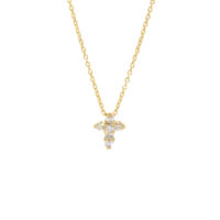 Roberto Coin baby cross diamond necklace