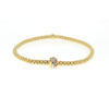 Fope 18k Yellow Gold Flex' It Bracelet with Three Plain Rondels