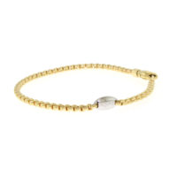 Fope 18k Yellow Gold Flex' It Mini Eka Bracelet