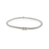 Fope 18k White Gold Flex' It Prima link Bracelet with Diamonds