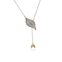Simon G White and Rose gold Diamond Pendant