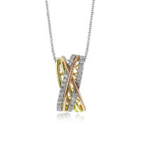 Simon G 3Tone Fashion Diamond Pendant