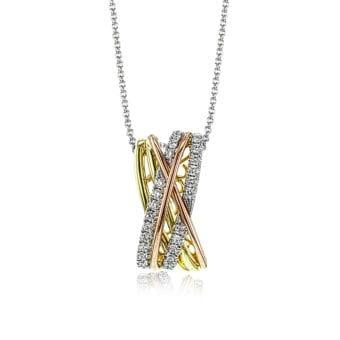 Simon G 3Tone Fashion Diamond Pendant