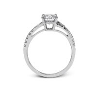 Simon G White Gold Diamond Semi-Mount Ring