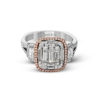 Simon G 2 Tone Diamond Ring MR2638