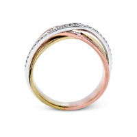 Simon G 3 Tone Diamond Ring MR2629