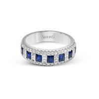 Simon G Diamond Sapphire Ring MR1594