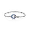 Simon G 18K White Gold Buckle Style Fashion Diamond Bracelet